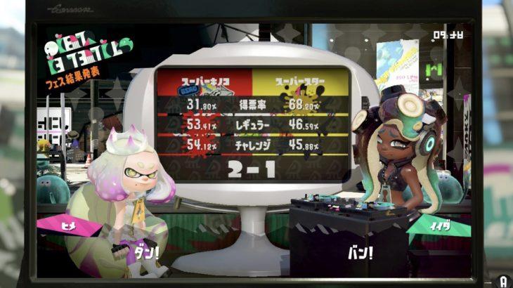 【スプラトゥーン2】フェスはキノコが大勝利!
